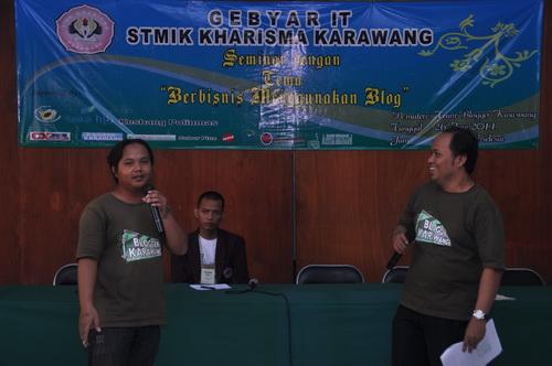 Seminar Blogging 26 Juni 2011 - STMIK Kharisma Karawang