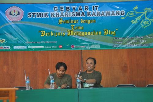 Seminar Blogging 2011 - STMIK Kharisma Karawang