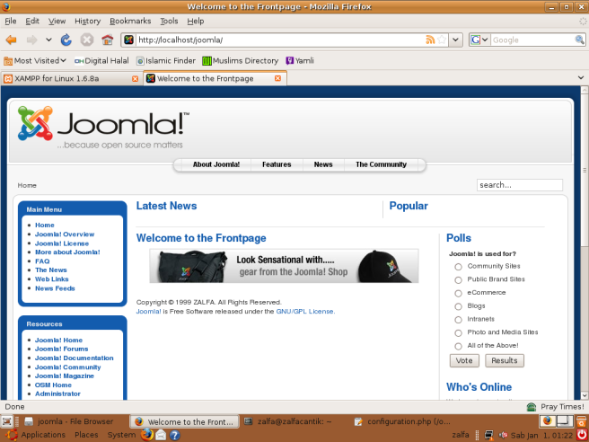 Website Dinamis dengan Joomla dan XAMPP