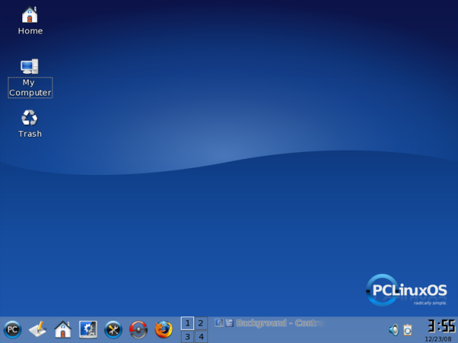 Tampilan PCLinuxOS setelah selesai diinstall