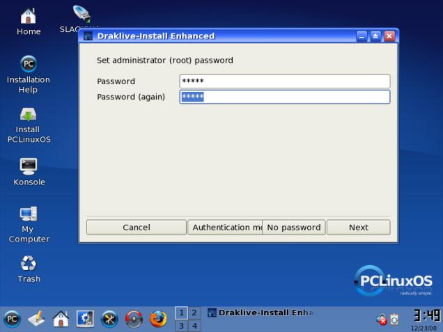 Buatlah Password untuk Root