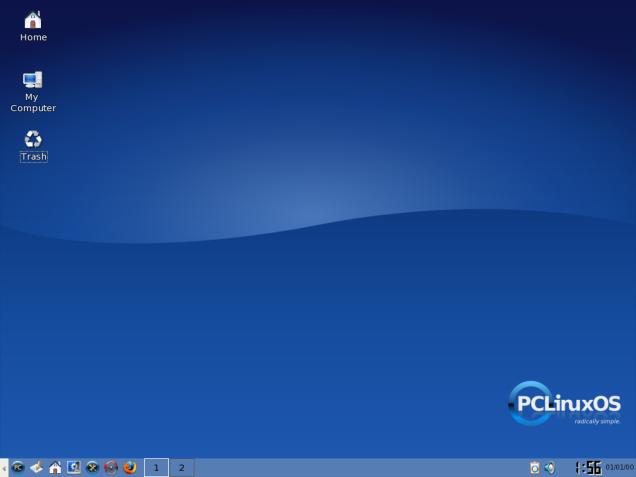 Tampilan PCLinuxOS setelah di Install