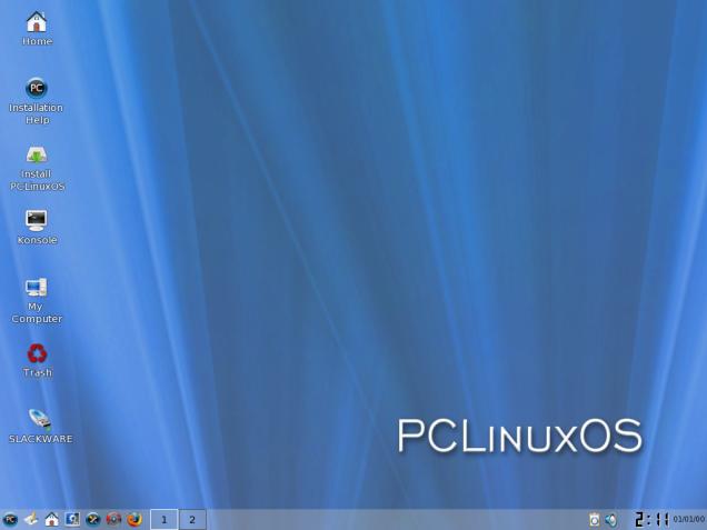 Tampilan Live CD PCLinuxOS