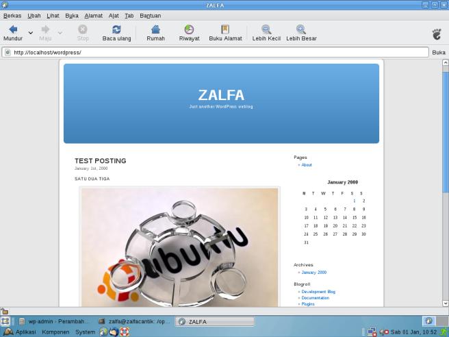 Website Dinamis dengan Worpress dan XAMPP