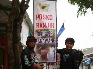 Posko Banjir Blogger Karawang