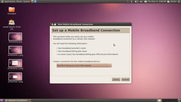 Ubuntu 10.04 Lucid Lynx - Setting Modem USB
