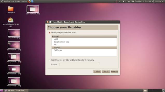 Ubuntu 10.04 Lucid Lynx - Seeting Modem USB