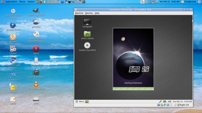 Menggunakan Linux Mint 10 sebagai guest OS
