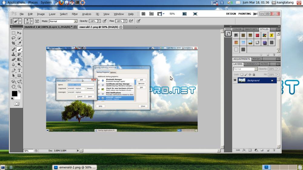 Menjalankan Aplikasi Photoshop CS 5 di Ubuntu (3/4)