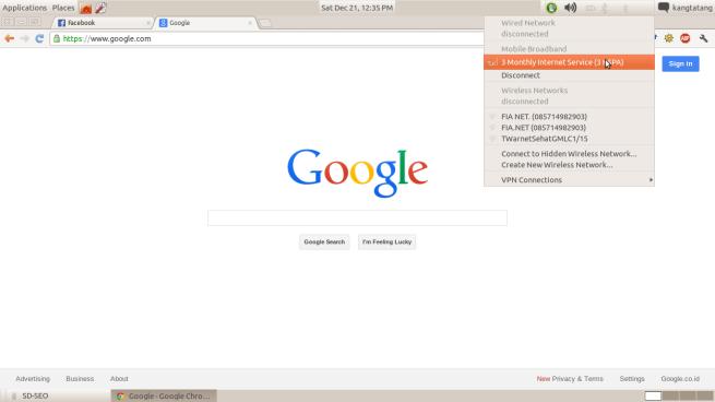 modem usb di ubuntu